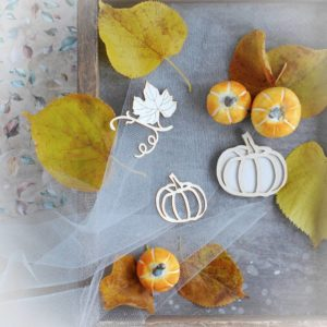 halloween pumpkins and flourish laser cut chipboard elements