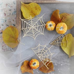 halloween spider webs decorative laser cut chipboard set
