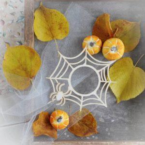halloween spide wed frame with spider decorative laser cut chipboard