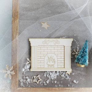 2 layer fireplace decorative laser cut chipboard