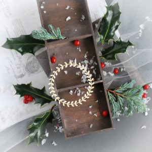 christmas wreath frame decorative laser cut chipboard