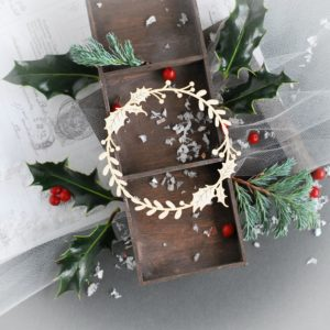 decorative laser cut christmas wreath frame