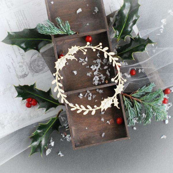 decorative laser cut christmas wreath frame
