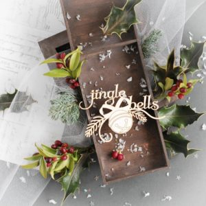 jingle bells decorative laser cut chipboard