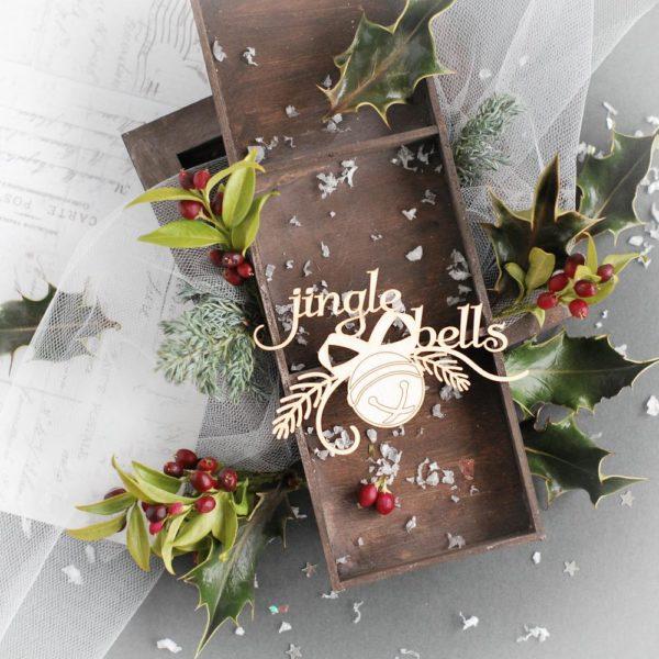 jingle bells decorative laser cut chipboard