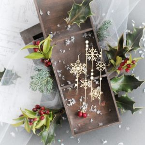 snowflakes background decorative laser cut chipboard