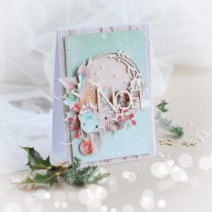 noel christmas card in mint colour
