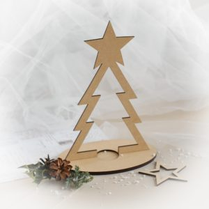 3d mdf laser cut christmas tree