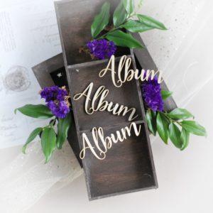 decorative laser cut chipboard album word set