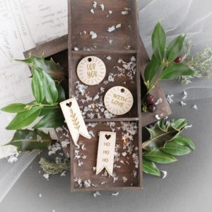 christmas gift tags laser cut chipboard