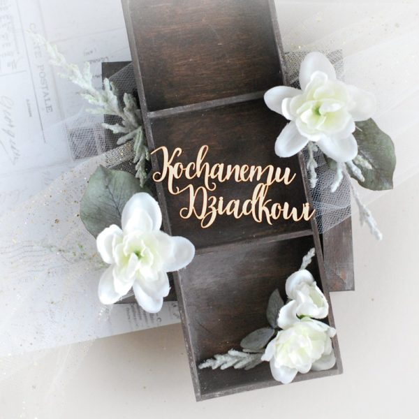 kochanemu dziadkowi grandparents day laser cut chipboard