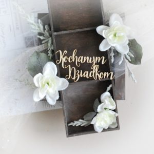kochanym dziadkomgrandparents day laser cut chipboard