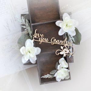 love you grandpa grandparents day decorative laser cut chipboard