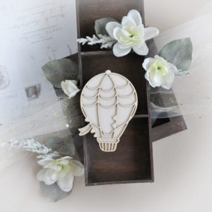 2 layer hot air ballon decorative laser cut chipboard