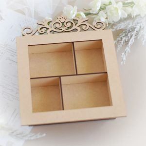 decorative mdf shadow box laser cut