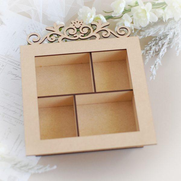 decorative mdf shadow box laser cut