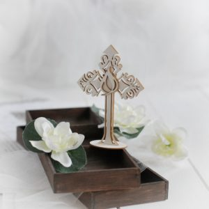 christening baptism confirmation 2d cross decorative laser cut chipboard