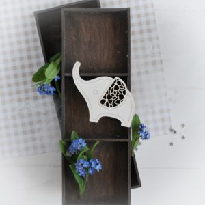 decorative laser cut chipboard little elephant