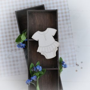 decorative laser cut chipboard baby girl body