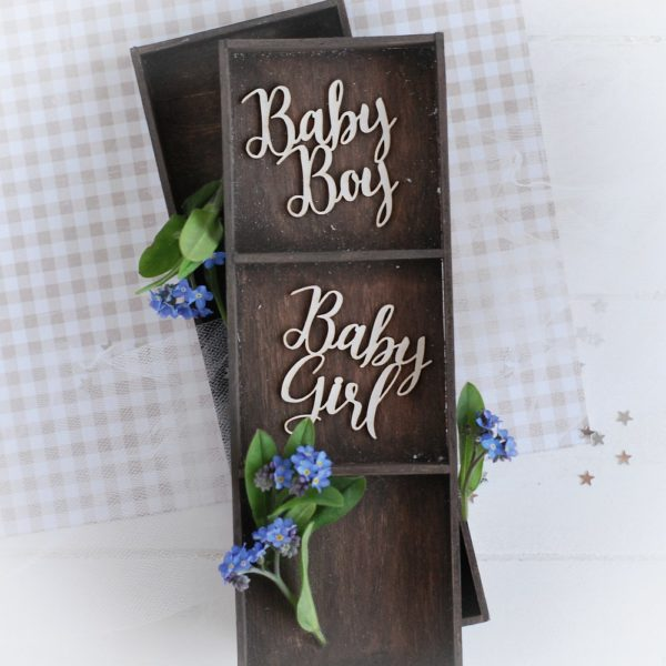 decorative laser cut chipboard sentiments baby girl baby boy