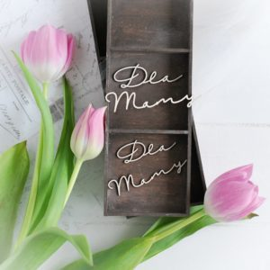 mothers day collection words dla mamy decorative laser cut chipboards
