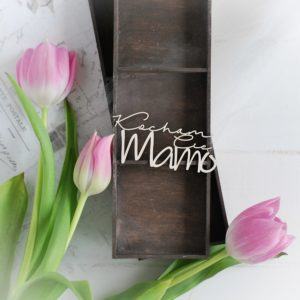 mothers day collection words kocham cie mamo decorative laser cut chipboards