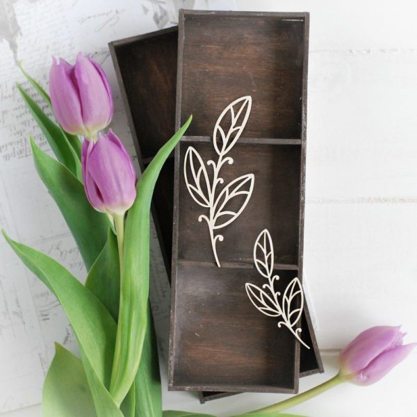 decorative laser cut chipboard floral set