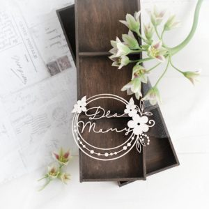 mothers day collection frame dla mamy decorative laser cut chipboard