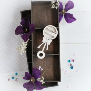 new baby collection baby rattle shaker box decorative laser cut chipboard