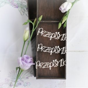 rzepisnik word set decorative laser cut chipboards