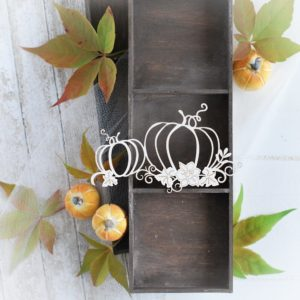 autumn halloween collection pumpkins decorative laser cut chipboards