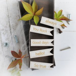 masculine collection banner set decorative laser cut chipboard