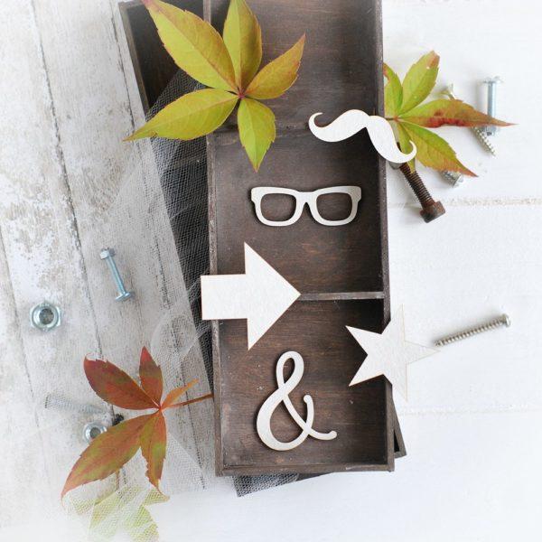 masculine collection set of elements glasses, moustache, star, &, arrow