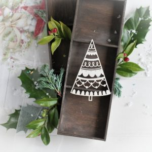 christmas collection christmas tree decorative laser cut chipboard