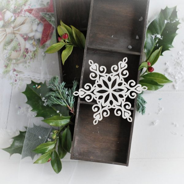 christmas collection large snowflake decorative laser cut chipboard