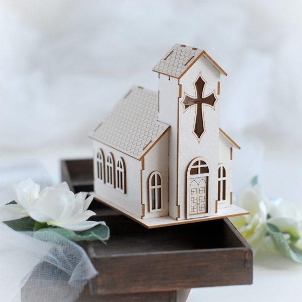 3d decorative church laser cut chipboard