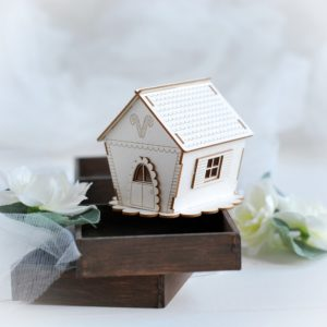 christmas gingerbread house decorative 3d laser cut chipboard