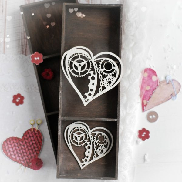 steampunk decorative laser cut chipboard