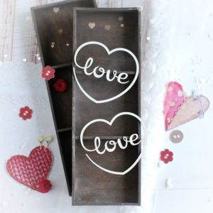 love hearts decorative laser cut chipboard set