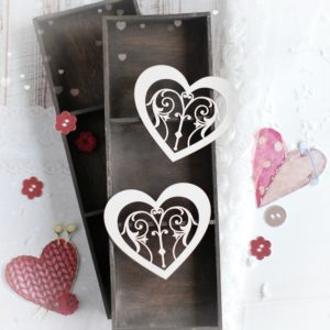 decorative laser cut chipboard heart