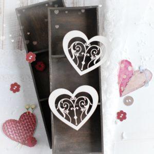 decorative laser cut chipboard heart