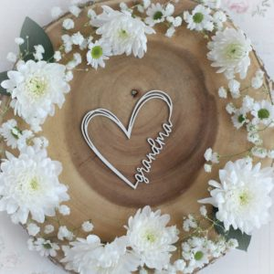 mothers day collection grandma heart decorative laser cut chipboard