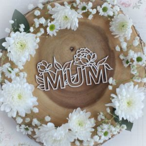 mothers day collection large mum with flowers decorative laser cut chipboard
