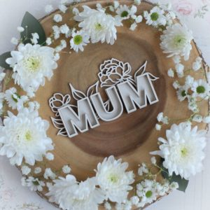 mothers day collection large mum with flowers shaker decorative laser cut chipboard