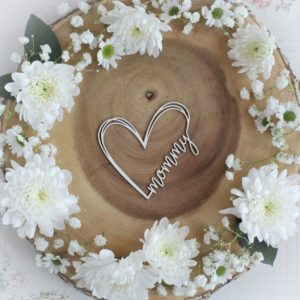 mothers day collection mommy heart decorative laser cut chipboard