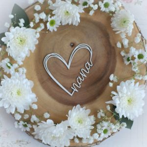 mothers day collection nana heart decorative laser cut chipboard