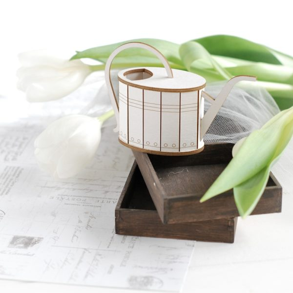 3d watering can decorative laser cut chipboard