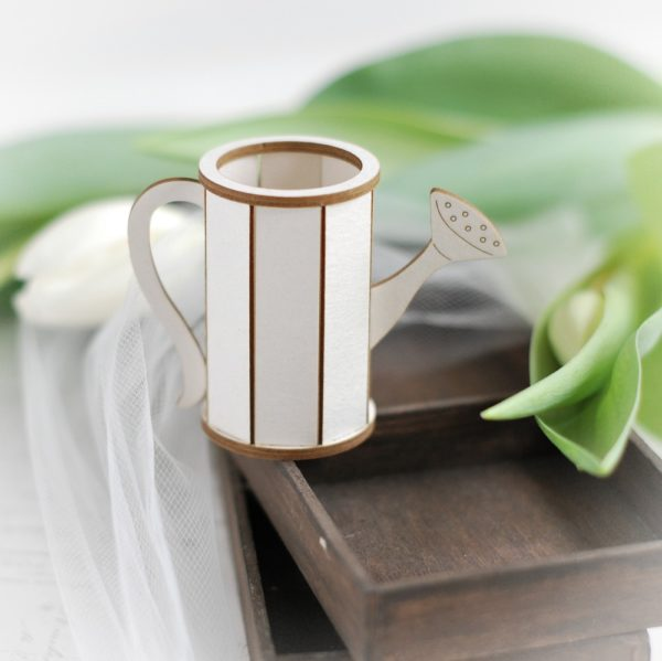 3d watering can decorative laser cut chipbboard