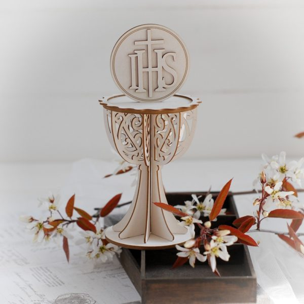 large 3d chalice decorative aser cut chipboard with ihs