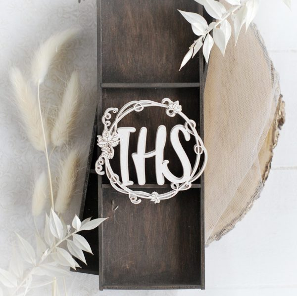 first holy communion ihs 2d frame decorative laser cut chipboard